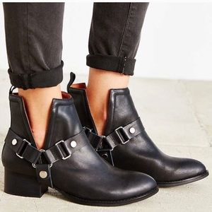 Jeffrey Campbell Musk Harness Ankle Boots 8.5